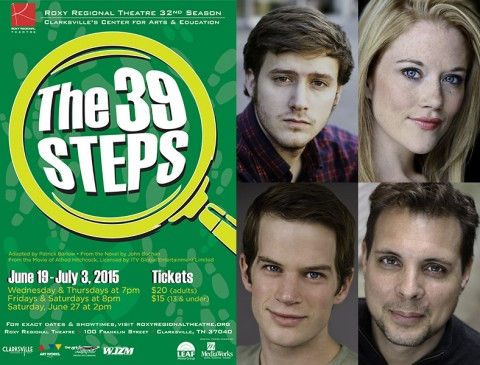 """The 39 Steps"" stars (Top L to R) Eli Jolley, Alicia Jayne Kelly, Josh Bernaski and Daryl W. Phillipy."