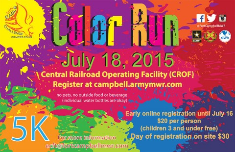 Fort Campbell Eagle Challenge Fitness Tour Color Run