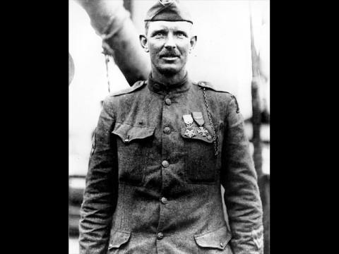 """In the Footsteps of Alvin York"" exhibit at the Customs House Museum."