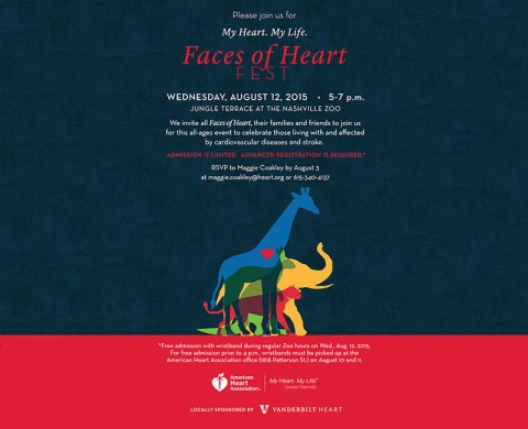 Faces of Heart Fest to be held at the Nashville Zoo August 12th.