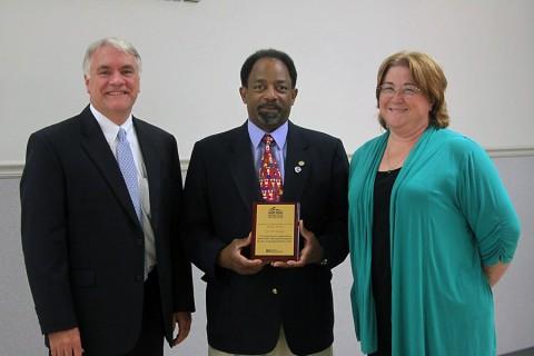(L to R) Director of Schools B.J. Worthington, School Board Chairman Jimmie Garland and Professional Development Coordinator Susan Jones.
