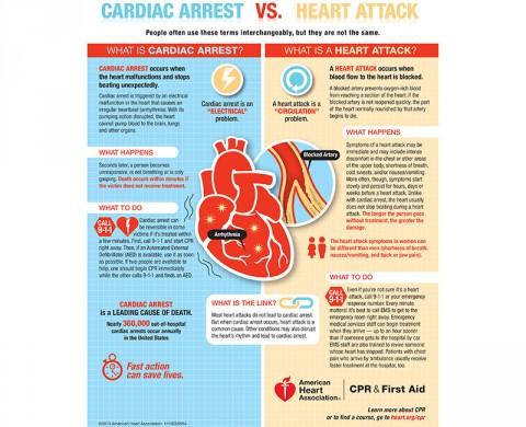 Cardiac Arrest vs. Heart Attack