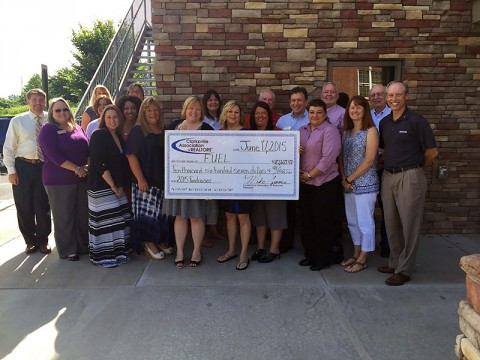 Clarksville Association of REALTORS check presentation to F.U.E.L.
