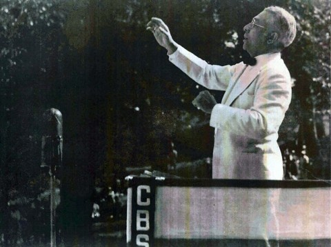 Clarence Cameron White conducting