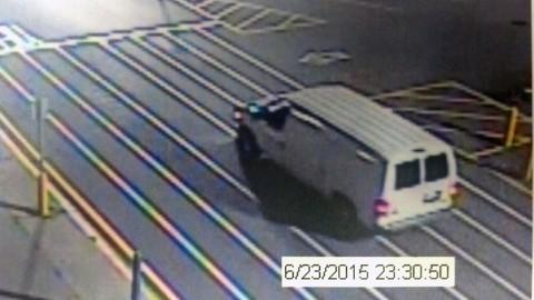 Burglary Suspect's White Van.