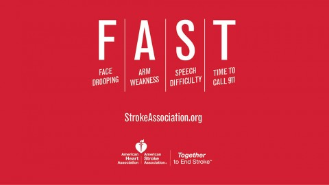 FAST Stroke infographic. (American Heart Association)