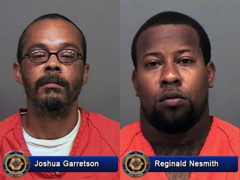 Joshua Garretson and Reginald Nesmith arrested for 2013 murder of Daniel Lamar Reed.