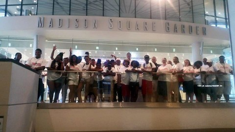 Youth at Madison Square Garden during LEAP Organization's 5th Annual Education Excursion.
