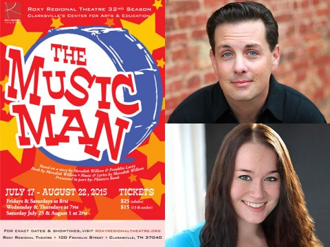 "Roxy Regional Theatre's ""The Music Man"" stars John Adkison and Mary Malaney."