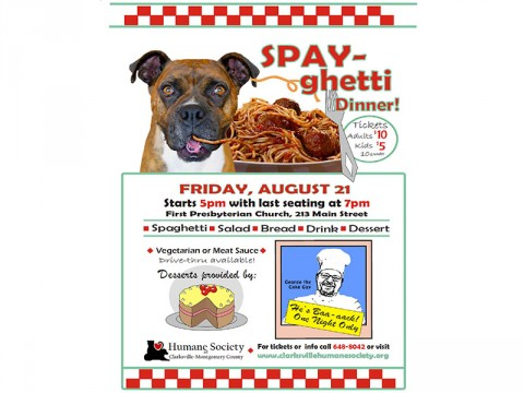 Humane Society of Clarksville-Montgomery County SPAY-ghetti Dinner fundraiser