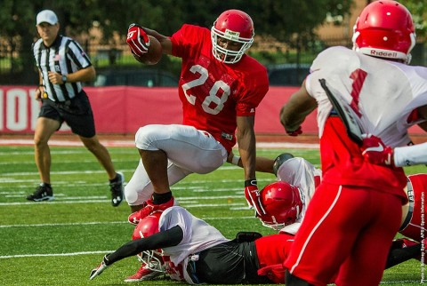 Austin Peay Football held their first preseason scrimmage Saturday. (APSU Sports Information)