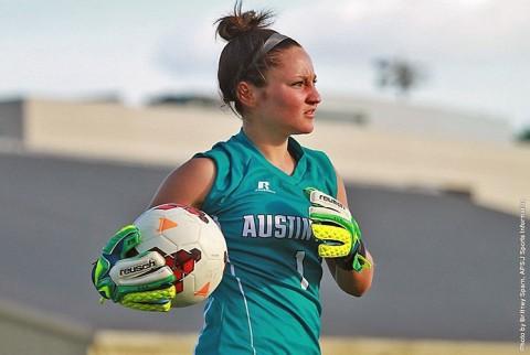 Austin Peay Soccer's senior goalkeeper Nikki Filippone. (APSU Sports Information)