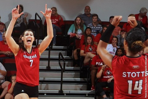 Austin Peay Volleyball setter Aubrey Marsellis. (APSU Sports Information)