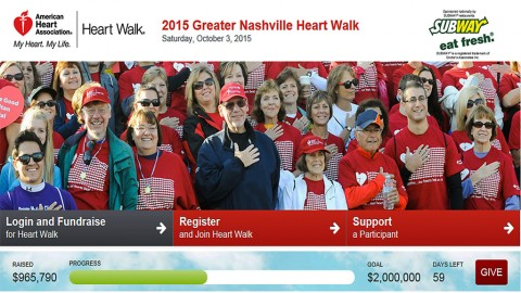 American Heart Association's Greater Nashville Heart Walk