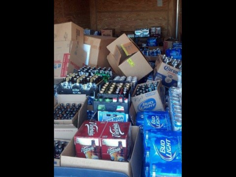 Clarksville Police seize $35,000 of Beer from Golf Club Food Mart at 2116 Golf Club Lane.