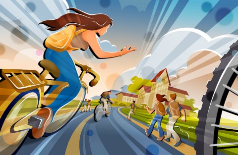 Pedaling away Pounds, Improving Cardio Health Good for Everyone