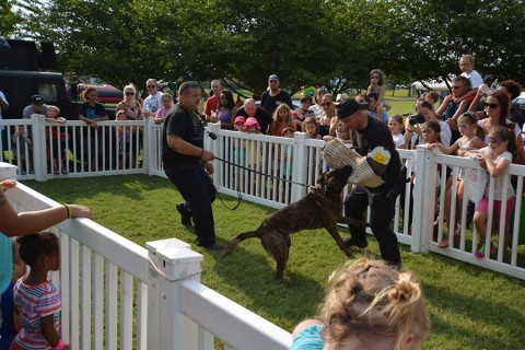The Hopkinsville Police Department hosted K9 demonstrations for residents throughout the event.