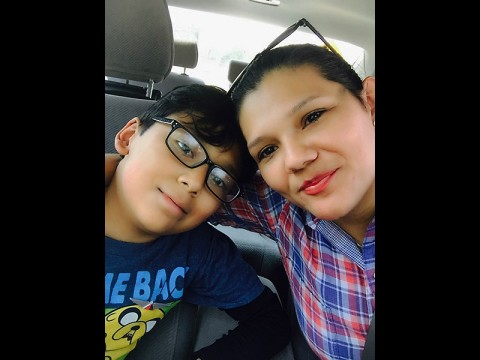 Christopher Ponce and his mother Yenny Ponce.
