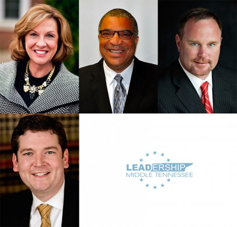 Clarksville-Montgomery County leaders selected to Leadership Middle Tennessee's 2016 Class are: (Top L to R) Kay Drew, Keith Lampkin, Jeff Truitt, and Joel Wallace.