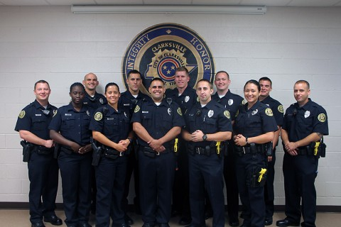 (Back- Left to Right): Robert Steinmetz, Kevin Westover, Matthew Roederer, Andrew Henry, Steven Deering, Joshua Spain, and Ronald Cox. (Front- Left to Right): Tryesha Clark, Brittany Hubbard, Brandon Diez, Joshua Clegg, and Shandie Owenby.