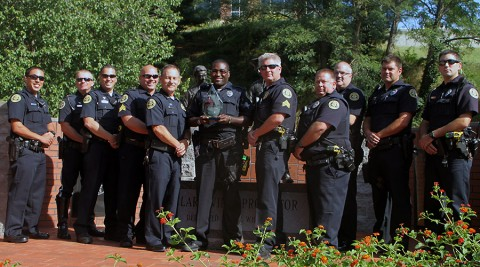 Clarksville Police Department comes in 1st for Agencies with Between 201-500 Sworn Officers Two Years in a Row (2015)