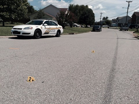 Clarksville Police respond to shots fired on Archwood Drive Saturday.