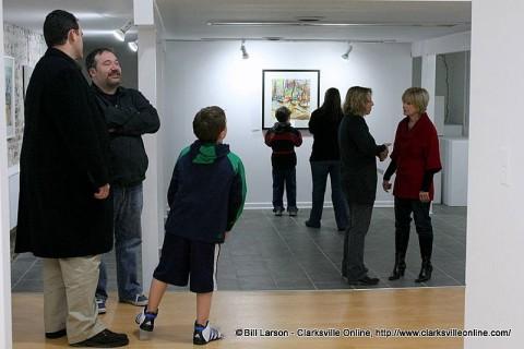 First Thursday Art Walk in downtown Clarksville