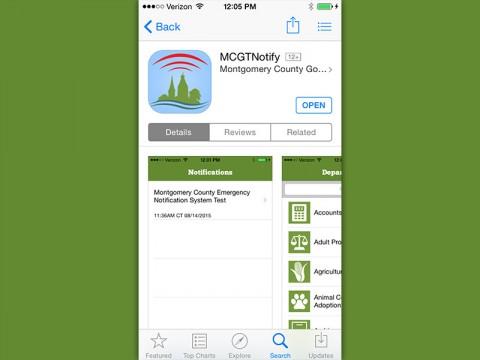 Montgomery County Emergency Notification App