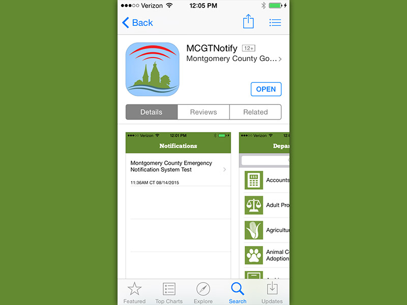 Montgomery county unveals emergency notification app discover