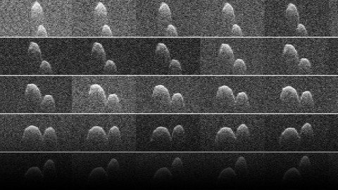 Radar images of asteroid 1999 JD6 were obtained on July 25, 2015. The asteroid is between 660 - 980 feet (200 - 300 meters) in diameter. (NASA/JPL-Caltech/GSSR )