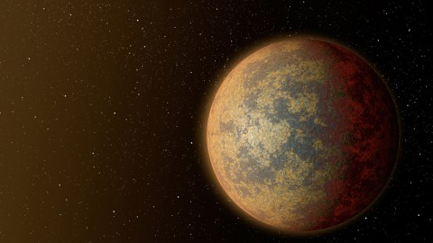 This artist's rendition shows one possible appearance for the planet HD 219134b, the nearest confirmed rocky exoplanet found to date outside our solar system. (NASA/JPL-Caltech)