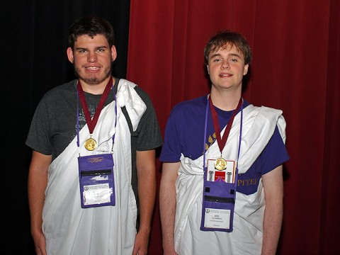 Riley Miller and Alexander Kee earned Best of Show honors for having the highest scores regardless of Latin level.