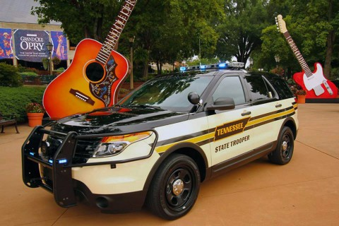 Tennessee Highway Patrol Ford Interceptor SUV at Grand Ole Opry, Nashville Tennessee.