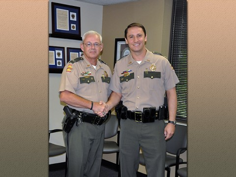 (L-R) Tennessee Highway Patrol Colonel Tracy Trott and Major Mark Proctor.