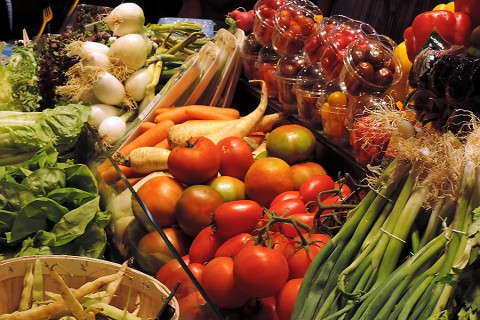 Vegetables at the market. (American Heart Association)
