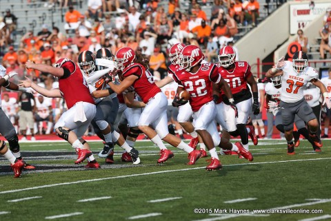 Austin Peay Football drops season opener Saturday to Mercer.