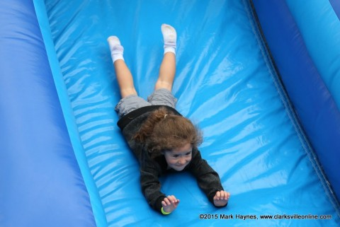 """Inflatable at the Earth Explorers"""" area."""