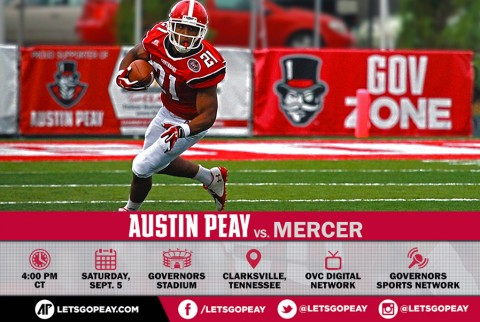 Austin Peay Football takes on Mercer at home this Saturday, September 5th. (APSU Sports Information)