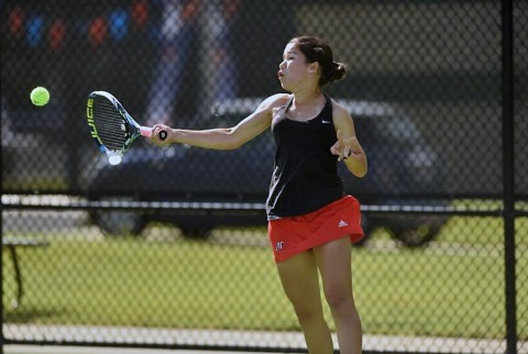 Austin Peay Women's Tennis. (Nathan Morgan/UTM Sports Information)