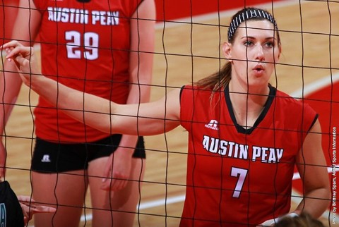 Austin Peay Women's Volleyball game Tuesday will now be played Wednesday, October 7th. (APSU Sports Information)