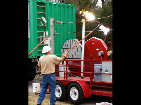 CDE high voltage electric safety demonstration.