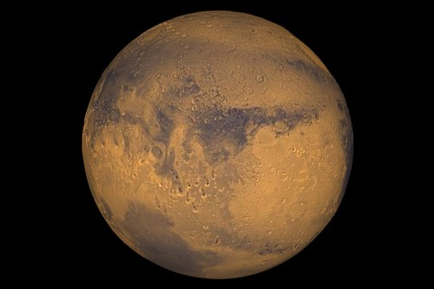 Mars true-color globe showing Terra Meridiani. (NASA/Greg Shirah)