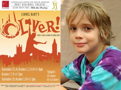 "Magnus DoVanne stars as Oliver Twist in the Roxy Regional Theatre's production of ""Oliver!"""