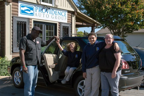Every two months, PAG gives away a vehicle to those in need. Recipients are selected by PAG non-profit partners, including Thistle Farms and Safe Haven.