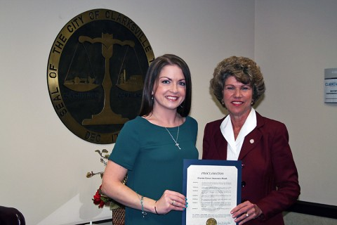 Clarksville Mayor Kim McMillan has proclaimed September as Ovarian Cancer Awareness Month.
