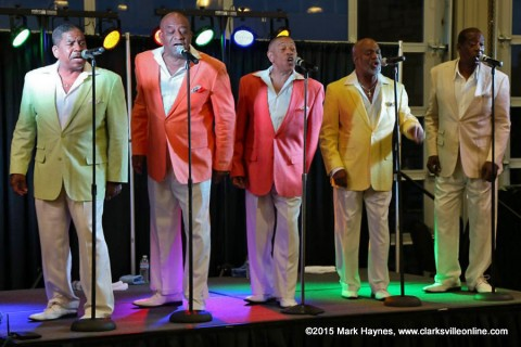 Serieux: A Temptations Revue takes the stage at Clarksville's Riverfest Friday night at 9:00pm.