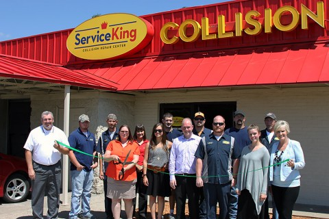 Service King Collision Repair Centers Green Ribbon cutting ceremony.