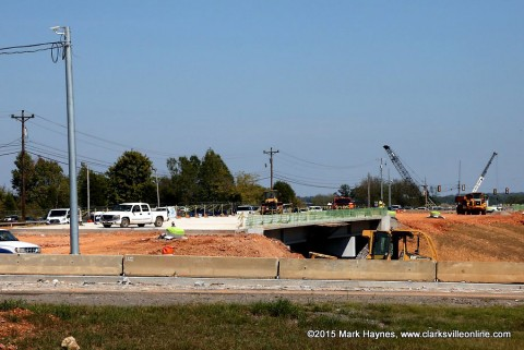 Tennessee Department of Transportation construction going on at Rossview Road/Exit 8.