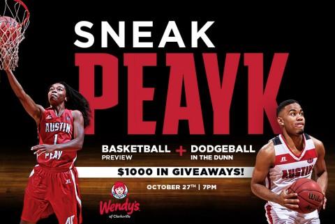 2015 Austin Peay Basketball Sneak Peayk