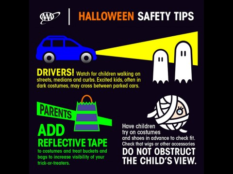 AAA offers a few easy Halloween Safety Tips.